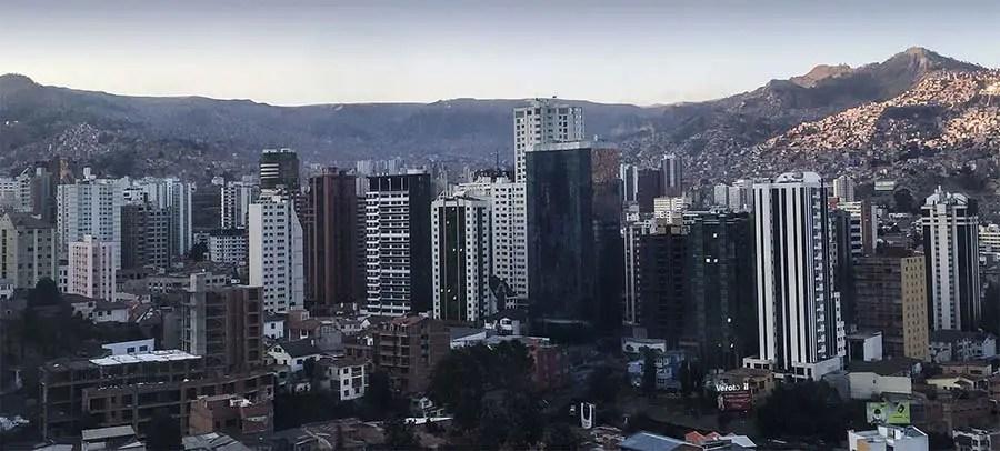 Aerial view of Sopocachi
