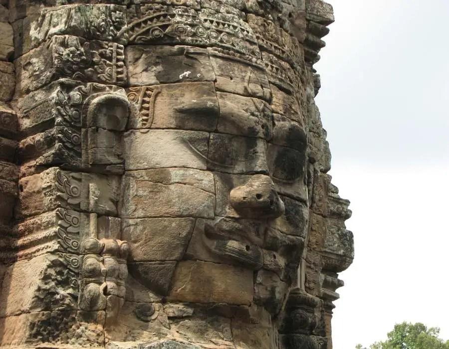 Angkor thom and bayon temple Cambodia