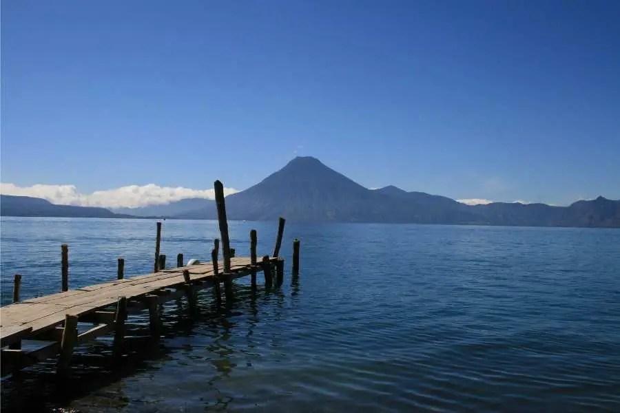 San Pedro Volcano on Lake Atitlan