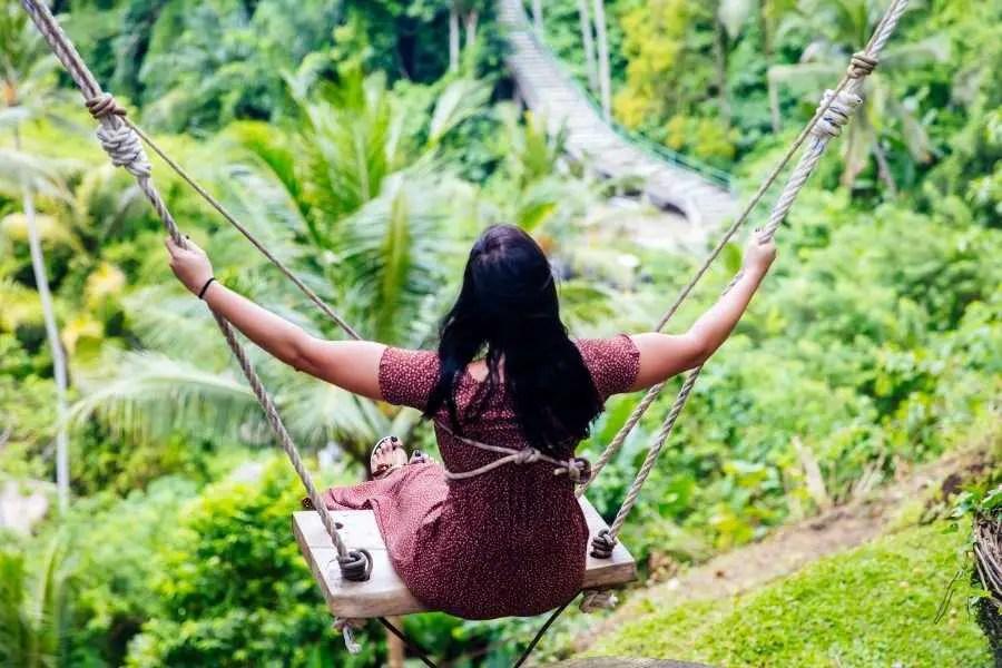 swinging in Bali