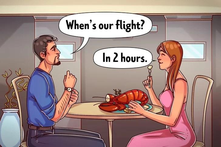 greseli culinare inaintea unui zbor
