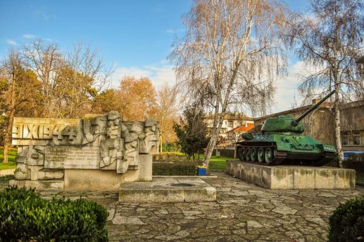 Parc cu tanc T-34