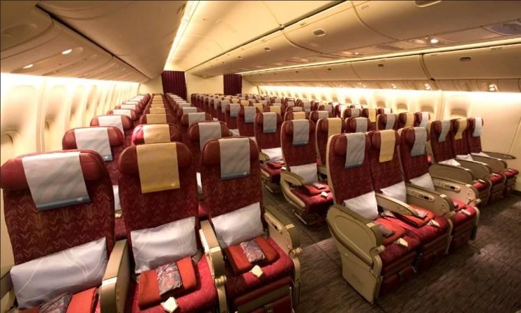 interior avion qatar airwais