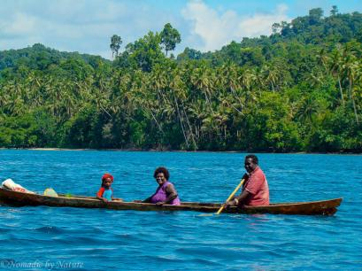 Outing in the Family Canoe in Choiseul Province