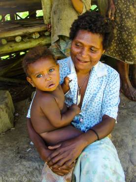 Papuan Mother with Child