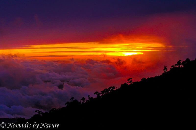 Sunset on Mount Kinabalu