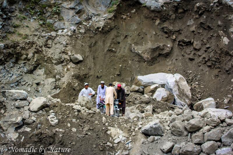 Navigating a Major Avalanche on the Karakoram Highway