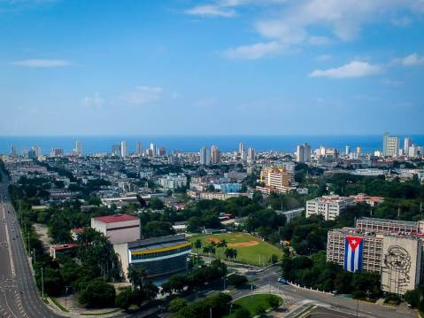 A view of Havana. Old, Blue and Beautiful