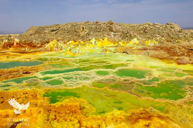 A Beautiful Emerald Toxic Lake, Dallol, Ethiopia
