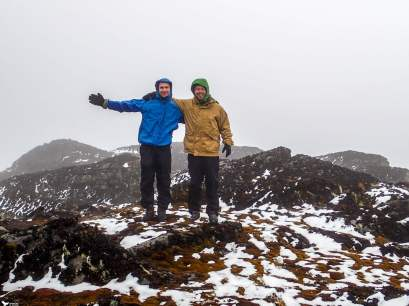 The Summit at Weismann's Peak, Rwenzori Mountains National Park
