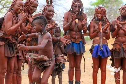 A Himba Girl Dancing Ondjongo, Namibia