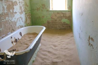 An Abandoned Bathroom, Kolmanskop Ghost Town, Namibia