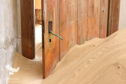 A Door Stuck Ajar, Kolmanskop Ghost Town, Namibia