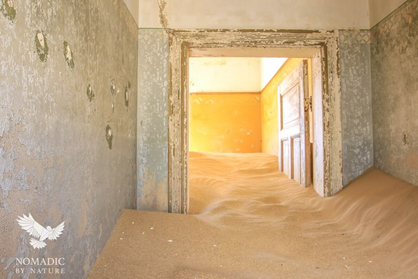 Sand Almost to the Ceiling, Kolmanskop Ghost Town, Namibia