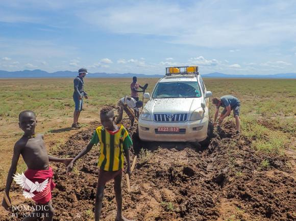 Digging Our Way Out of the Swamps of Northern Lake Turkana, Ethiopia