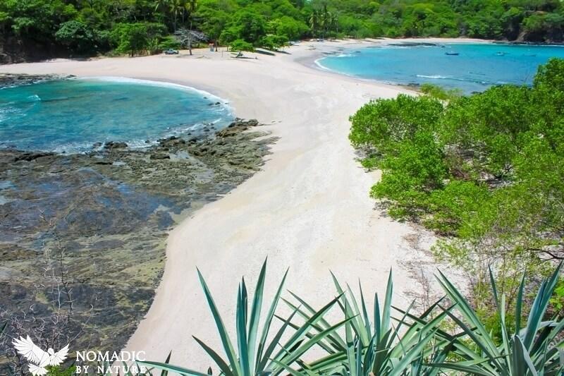 The Split Sand Spit of Playa San Juanillo, Costa Rica