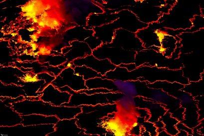 Exploding Magma, Nyiragongo, Virunga National Park, DR Congo