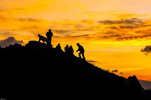 Sunrise Silhouettes, Niyragongo, Virunga National Park, DR Congo