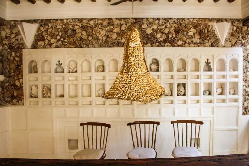 Shell Light in Fishbone House, Shela, Kenya