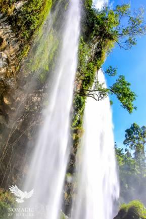 The Twin Kapsurur falls, Sipi Falls, Uganda