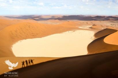 Summit Shadows from Big Daddy Dune, Sossusvlei, Namibia