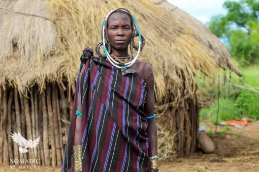 A Decorated Mursi Woman, Ethiopia