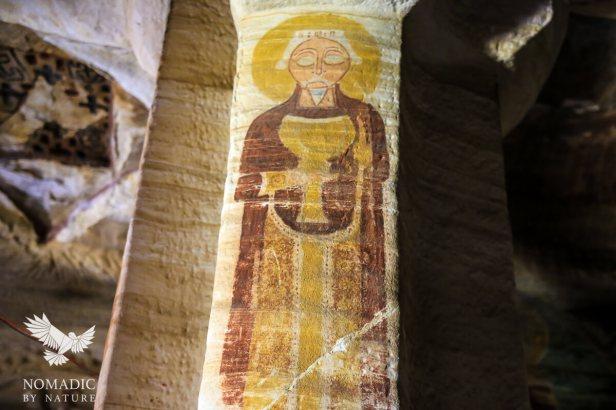 Inside the Debra Maryam Qorqor Rock-Hewn Church, Ethiopia