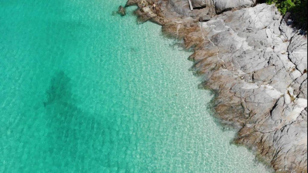 freedom beach drone image