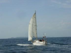 Sailing to Itaparica.