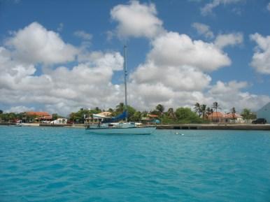 Noa moored in Bonaire.