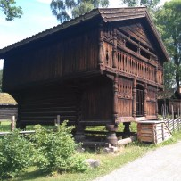 Wooden houses in the Folkemuseum