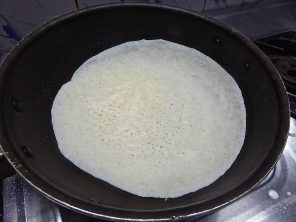 The palappam batter cooking