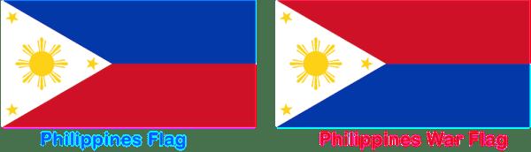 The unique Filipino flag