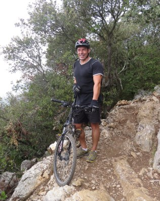 French cyclist of the year on the trail with bike