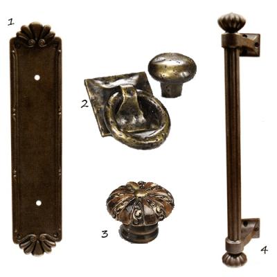 rustic cabinet hardware - nomadic decorator
