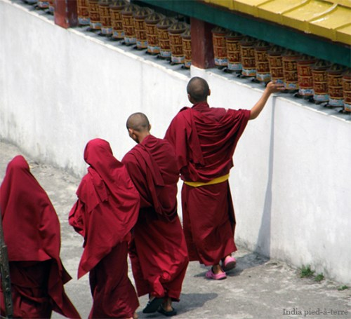 Monks and Prayer Wheels in Sikkim - India pied-a-terre blog