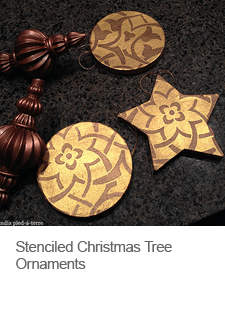 DIY Stenciled Christmas Tree Ornaments