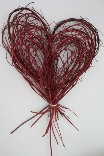 Branch Heart via Blue Velvet Chair