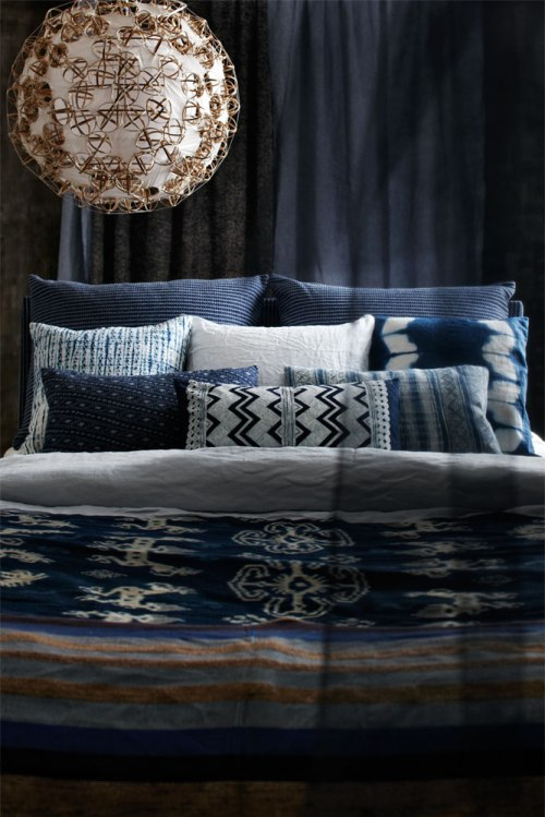 Navy Bedding Prints from Skona Hem