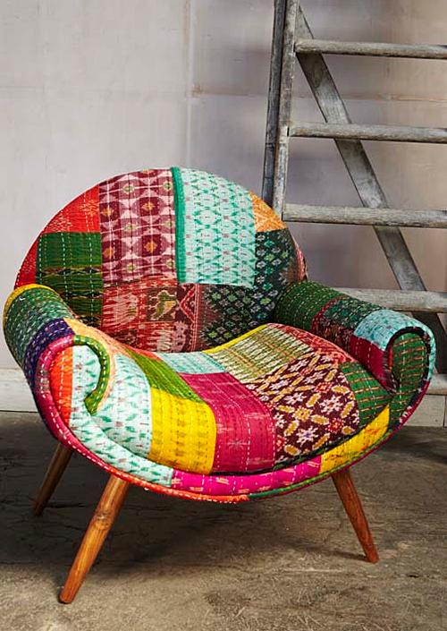 Crazy Quilt Combo Of Vintage Kantha Sari Fabrics