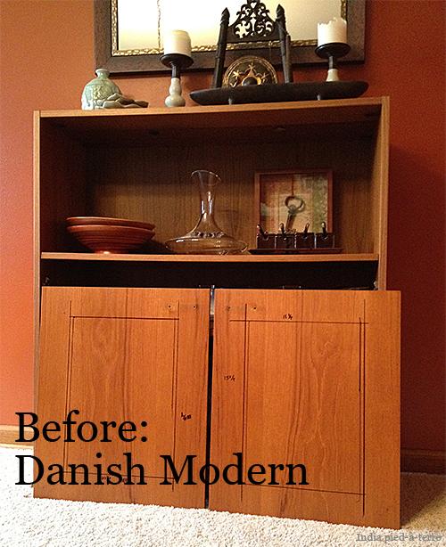 DIY Cabinet Makeover: Danish Modern Before