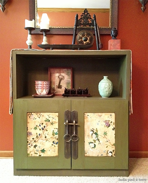 Danish Cabinet Makeover into Antique Chinese Style