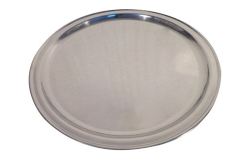 Target Threshold Round Stainless Steel Tray