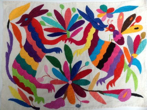 Multi-Color Embroidered Otomi from Etsy Seller ILoveOaxaca