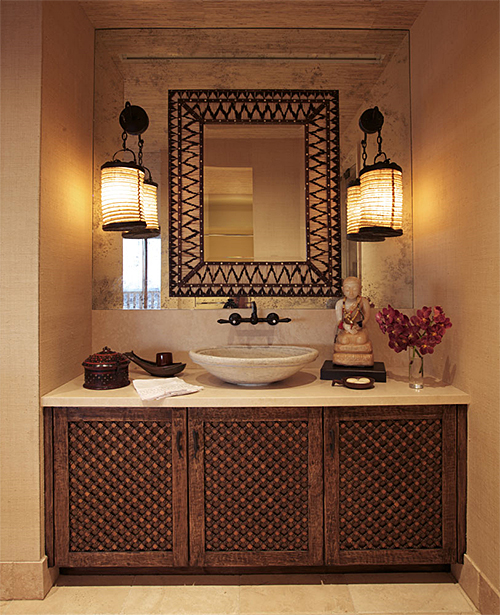 Porcupine Quill Mirror in Cher's Hollywood Penthouse