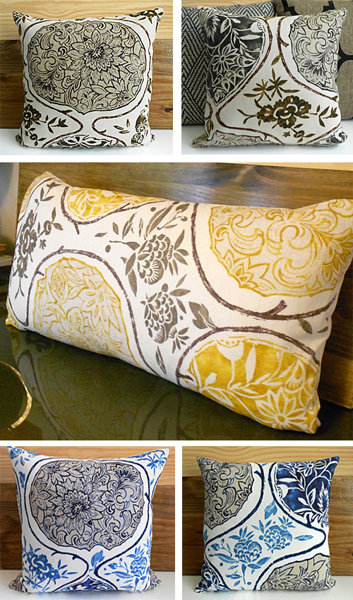 Schumacher Katsugi Pillows at pillowflightpdx Esty Shop
