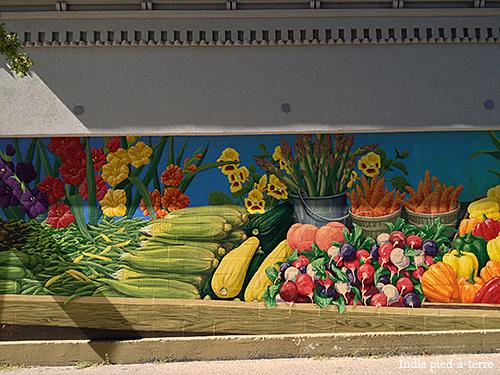 Summer Farmers Market Mural