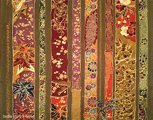 Bamboo Pattern Silk Kimono Fabric