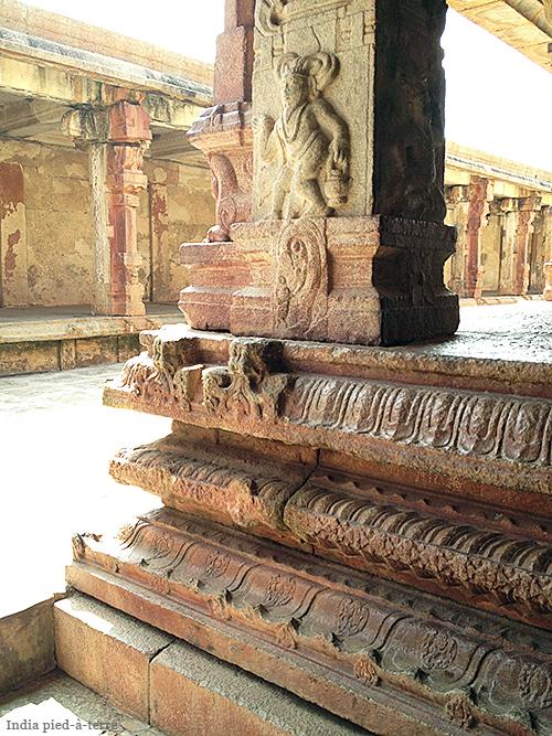 Chola Column in Bhoga Nandeeshwara Temple