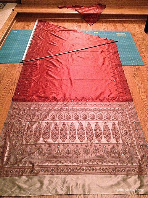 How to Make a Sari Christmas Tree Skirt